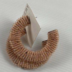 Witchery Dust Pink Beaded 6cm Drop Earrings